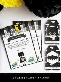 INVITACIÓN - BATMAN imprimible - superhéroe
