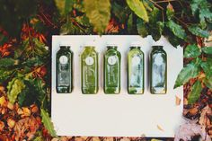 We have five combinations of Green Juices! Pressed Juices - Positively Life Changing