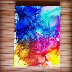 Crayon art melted crayons done by me!