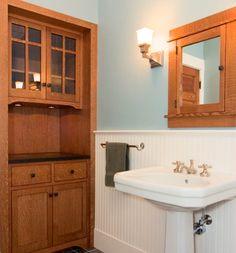 Bathroom Built Ins Craftsman Storage