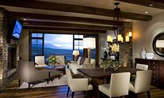 An open concept Living Room and Dining Room from one of our Colorado jobs.