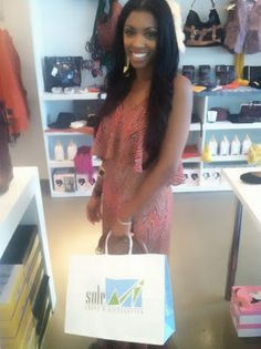 The ridiculously sweet Porsha Stewart from this season's Real Housewives of Atlanta snapping up some fall 2012 goodies!