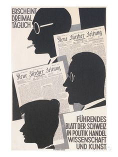 Poster for Swiss Newspaper Poster - bei AllPosters.ch