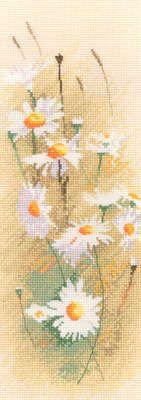 Daisy Floral Panel - John Clayton Cross Stitch