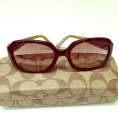 Coach Jackie Sunglasses Brown/Tortoise-shell frames. Signature Coach logo on inside of frames. Gradient lenses. Purchased at Nordstrom. Barely worn. Comes with Coach hard case.  (inside of hard case shows minimal wear from being stored) Coach Accessories Sunglasses