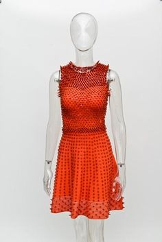 Crayola dress made out of crayons at Bloomingdales NYC