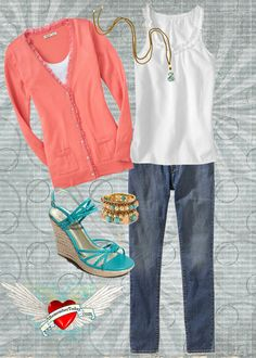 outfit idea, outfits for warm weather, color combos