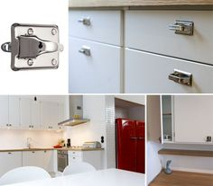 50-talsluckor från Järfälla kök Double Vanity, Cabinet, Bathroom, Retro, Storage, Kitchen, Inspiration, Furniture, Home Decor