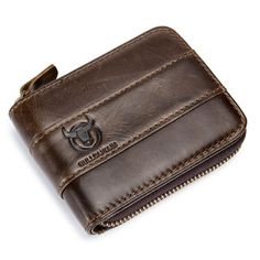 ef5ec34451112 BULLCAPTAIN Bullcaptain RFID Antimagnetic Vintage Genuine Leather 11 Card  Slots Trifold Wallet For Men sales at a wholesale price. Come to Newchic to  buy a ...