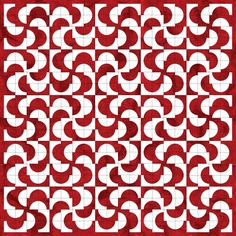 Drunkard's Path block layout ideas in red and white Quilting Templates, Quilting Tips, Quilting Projects, Quilting Designs, Quilt Patterns, Sewing Projects, Patchwork Quilting, Circle Quilts, Quilt Blocks