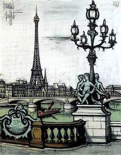 Pont Alexandre III et Tour Eiffel, par Bernard Buffet
