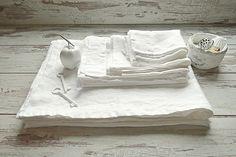 Pure Linen Bath set - Linen SPA sheet / Linen bath towel / Linen face, hand towel / Linen double-layered mat - Rough white linen towels by pureWHITEspa on Etsy https://www.etsy.com/listing/255460334/pure-linen-bath-set-linen-spa-sheet