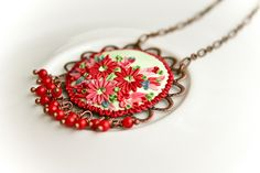 cherries in my neighbour's garden pendant by Chili Crab, via Flickr