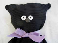 DIY - sewing - soft toys: black cat