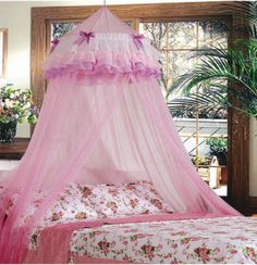 Pink Princess Triple Bed Canopy Mosquito Net   OO this is even cuter! I want one like it for Allison
