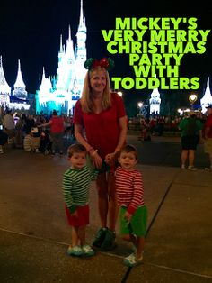 Tips for attending Mickey's Very Merry Christmas Party with Toddlers and little kids Disney Christmas Party, Mickeys Christmas Party, Mickey Christmas, Christmas Travel, Christmas Holidays, Christmas Crafts, Christmas Decorations, Holiday Travel, Disneyland Christmas