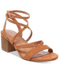 Madden Girl Women's Leexi Block Heel Sandal - - No Size Beige Sandals, Strappy Sandals, Shoes Sandals, Block Sandals, Block Heels, Clear Heels, Brown Suede, Steve Madden, Slippers