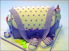 Diaper Bag Cake- reminds me of my baby shower cake <3 made by @Jessie Jenks