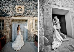 Kristine Kelly, in Custom Ines Di Santo, Marries Christopher in Greece