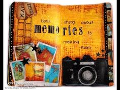 I love how Vicky Papaioannou used the film strip die by TIm Holdtz to put in her instagram photos in this Art Journal. I love Vicky Papaioannou blog and videos. http://www.clips-n-cuts.com/ Art Journal : memories