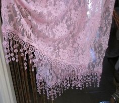 Gorgeous Rose Delicate Floral Shawl