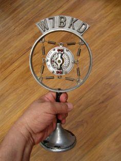 VINTAGE 1920s OLD DEPRESSION ERA ANTIQUE CARBON SPRING RADIO MICROPHONE & STAND | eBay