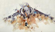 Harrier jump jet Falklands War, Kitty Hawk, Aeroplanes, Aviation Art, Military Art, Usmc, Line Drawing, Inventions, Art Drawings
