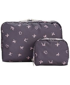 LeSportsac Extra Large & Small Cosmetic Case Combo