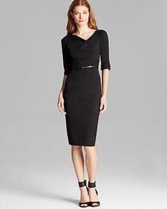 Black Halo Dress - Jackie O Elbow Sleeve | Bloomingdale's