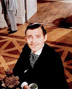 GONE WITH THE WIND ~ Clark Gable as Rhett Butler. [Video/GIF]