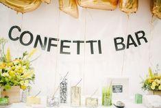 A CONFETTI BAR! brooklyn bride confetti bar at the cream event nyc Perfect Wedding, Diy Wedding, Wedding Favors, Wedding Photos, Dream Wedding, Wedding Decorations, Wedding Day, Wedding Reception, Wedding Tips
