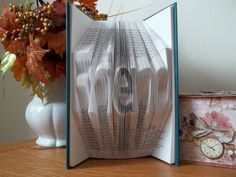 Folded Book Art with the word Friend Book Sculpture by DreamIt #craftshout0323