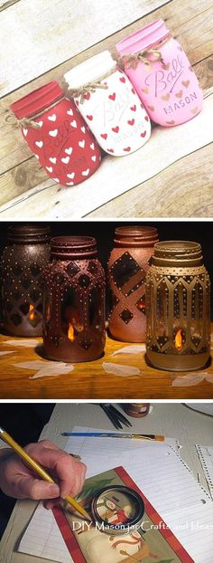Creative mason jar DIY ideas - Home Page Diy Crafts For Teen Girls, Diy And Crafts Sewing, Easy Diy Crafts, Diy Crafts Videos, Diy Crafts To Sell, Wine Bottle Crafts, Mason Jar Crafts, Mason Jar Diy, Wine Bottles