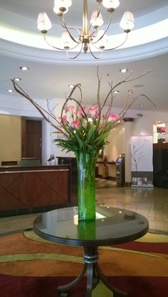 This week's lobby flowers at the London Marriott Hotel Regents Park