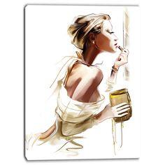Designart - Fashion Woman - Portrait Digital Canvas Art Print