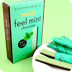 Buy Meiji Feel Mint Chocolate Sticks at Tofu Cute