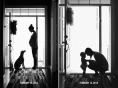 Life, Love, & Lucy | pregnancy photo with dog, mommy & daughter, silhouette, poppy photography, poppy-designs