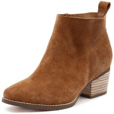 I Love Billy Lasey Tan Suede found on Polyvore featuring shoes, boots, ankle booties, faux-fur boots, ankle boots, suede booties, suede bootie and short boots