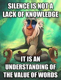 silence is not a lack of knowledge - it is an understanding of the value of words