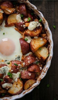 Breakfast eggs & potatoes