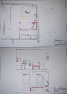 Leerjaar 1 schetsen de opdracht was om te oefenen met for Interieur tekenen