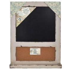 """Distressed Wood Cork Board & Chalk Bulletin Board 18""""x24"""" (Distressed – lightaccents.com"""