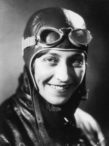 Amy Johnson, CBE (1 July 1903 – 5 January 1941) was a pioneering English aviatrix and was the first female pilot to fly alone from Britain to Australia. Flying solo or with her husband, Jim Mollison, she set numerous long-distance records during the 1930s. She flew in the Second World War as a part of the Air Transport Auxiliary and died during a ferry flight.