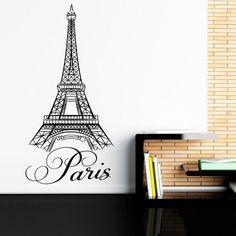 Paris Wall Stickers vinyle autocollants-Paris par FabWallDecals