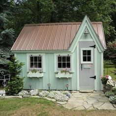 sweet little sheds | Child's Play Cottage or Garden Shed. Sweet! | GARDEN