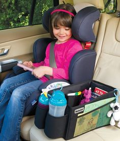 A great organised travel kit for driving with kids.