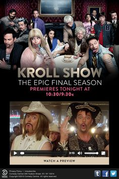 Comedy Central promoted the premiere of the Kroll Show by including a video preview in this email.