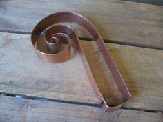 Copper Candy Cane Cookie Cutter  Copper Cookie Cutter Tool Pattern