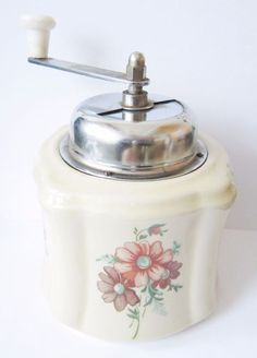 "http://rubies.work/0409-sapphire-ring/ VINTAGE POLAND COFFEE GRINDER""MG BIELSKO""BEAUTIFUL,MADE OF PORCELAIN,RARE"