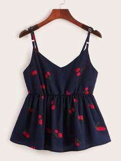 Cherry Print Cami Top